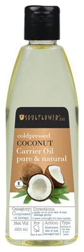 Soulflower Coldpressed Coconut Carrier Oil 225 ml