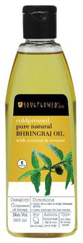 Soulflower Coldpressed Bhringraj Carrier Oil 225 ml