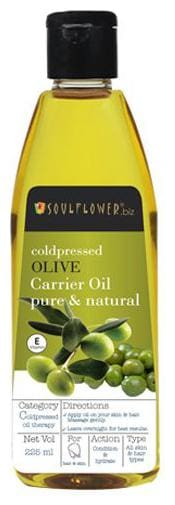 Soulflower Coldpressed Olive Carrier Oil 225 ml