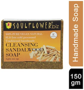 Soulflower Cleansing Sandalwood Soap 150 g