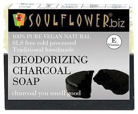Soulflower Deodorizing Charcoal Soap 150 g