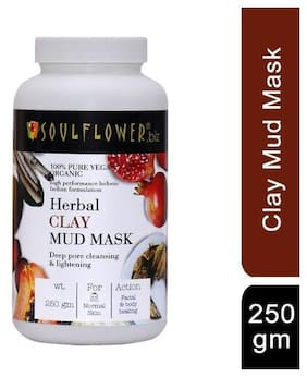 Soulflower Herbal Clay Mud Mask 250 gm