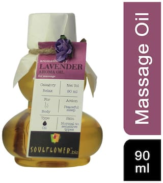 Soulflower Lavender Aroma Massage Oil 90Ml