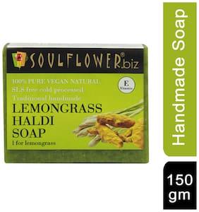 Soulflower Lemongrass Haldi Soap 150 gm