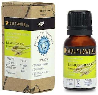 Soulflower Lemongrass Essential Oil 15 ml