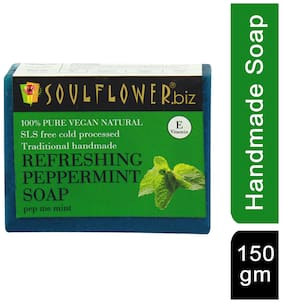Soulflower Refreshing Peppermint Soap 150 gm