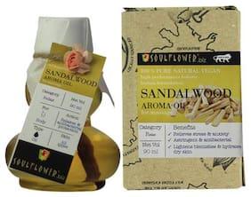 Soulflower Sandalwood Aroma Massage Oil 90 ml