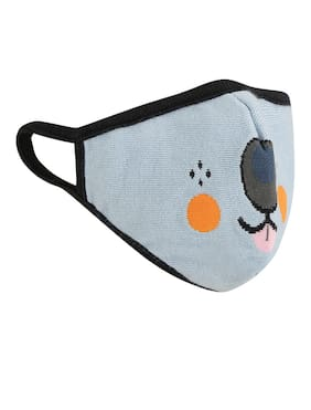 Soxytoes Multi Dogs Stylish Protective Super Safe Washable Knitted Cotton Kid's Face Mask