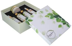 Spa at Home Gift Box: Body Massage Oil; Hair Oil; Face Pack; Body Wash; Sunscreen