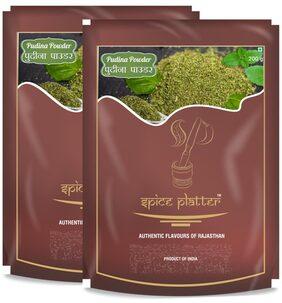 Spice Platter Pudhina Powder - Dry Mint Powder - Pack of 2 -200g each