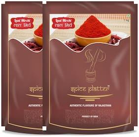 Spice Platter Red Chilli Powder (Lal Mirch Powder)-2Kg-(1Kg each)