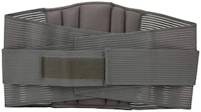 SpiffySky Lower Back Pain Brace/Sacral Lumbar Support Waist belt for Back Pain Relief -Grey (Medium (32 - 36 Inch)) (Pack of 1)