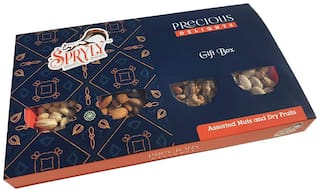 SPRYLY DRY FRUITS GIFT BOX-400 g (Almonds,Pistachios,Cashew,Raisins)