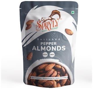 SPRYLY Enriched Black Pepper Almond -250g