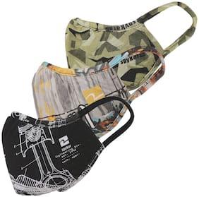 Spykar Multi Outdoor masks Pack of 3