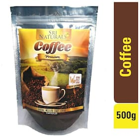 Sri Naturals Premium Coffee Powder 500 gm (Original Coffee From Western Ghats Karnataka Chikkamagaluru Directly Packed From Grower And Manufacturer)