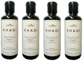 Srotam Khadi Herbal Shikakai Shampoo 210 ml( Pack Of 4 )
