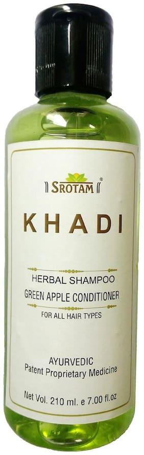 Srotam Khadi Herbal Green Apple Conditioner Shampoo 210 ml