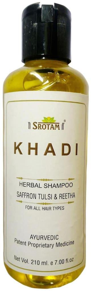 Srotam Khadi Herbal Saffron Tulsi & Reetha Shampoo 210 Ml( Pack Of 1 )