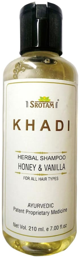 Srotam Khadi Herbal Honey & Vanilla Shampoo 210 ml( Pack Of 1 )