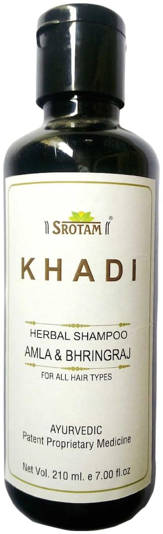 Srotam Khadi Herbal Amla & Bhirngraj Shampoo 210 ml