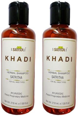 Srotam Khadi Herbal Satritha Shampoo 210 ml( Pack Of 2 )