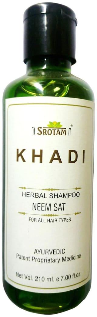 Srotam Khadi Herbal Neem Sat Shampoo 210 ml( Pack Of 1 )
