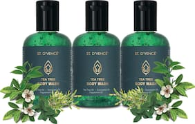 St.D'Vence Tea Tree Body Wash 100 ml (Pack of 3)