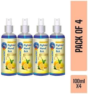 Stanrelief Hand Rub Mist Spray  Lemon 100ml (Pack of 4)