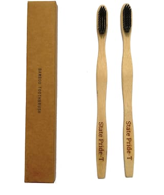 State Pride -T Biodegradable Bamboo Toothbrush for Adults - Pack of 2
