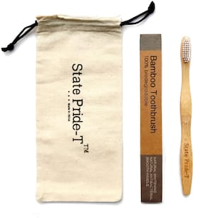 State Pride -T Biodegradable Bamboo Toothbrush for Adults  Pack of 1