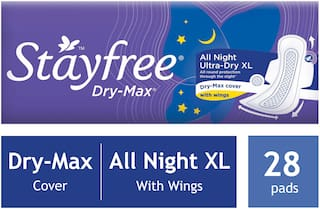 Stayfree Dry-max All Night Ultra-thin Xl (with Wings;28 Pads)