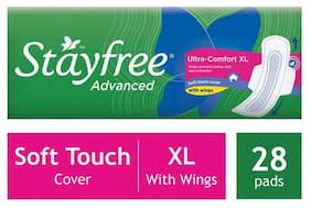 STAYFREE Sanitary Pads - Advanced Xl Soft Ultra-Thin  with Wings 28 Pads