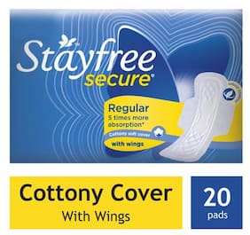 Stayfree Secure Cottony Soft (With Wings 20 Pads)