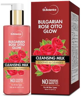 StBotanica Bulgarian Rose Otto Glow Cleansing Milk 150ml (Pack of 1)