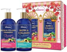 StBotanica Biotin & Collagen Volumizing Hair Shampoo + BIOTIN Hair Conditioner (Pack Of 2)