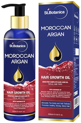 StBotanica Moroccan Argan Hair Growth Oil;200 ml (Pack of 1)