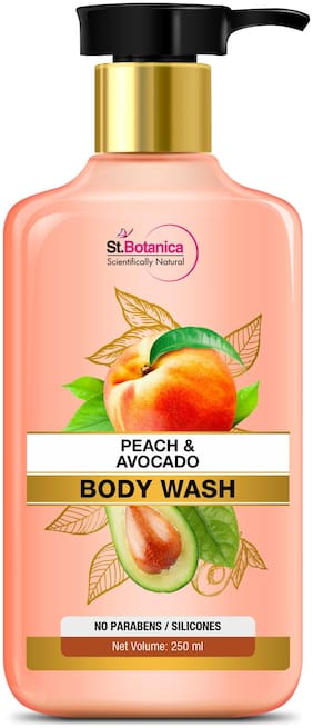 StBotanica Peach Avocado Body Wash 250ml