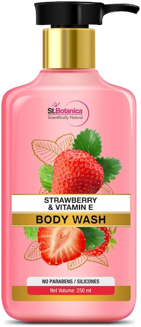 StBotanica Strawberry Vitamin E Body Wash 250ml