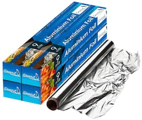 Story@Home Aluminum Foil - 9 m Pack Of 4 (9 X 4 =36 mtrs) With Rust Proof Cutter