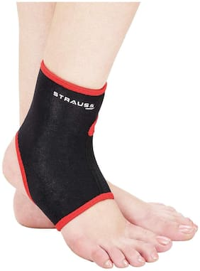 Strauss Ankle Support;Large (Black/Red)