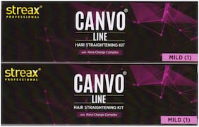 Streax Professional Canvoline Hair Straightening Cream Mild With Kera-Charge Complex 320gm (160 * Pack of 2)
