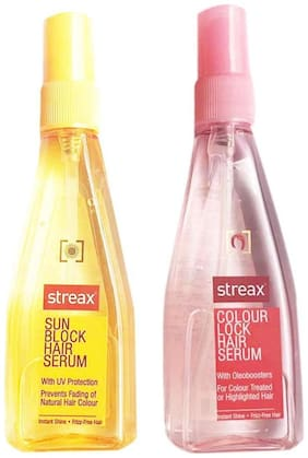 Streax Lock Hair And Sun Block Hair Serum Combo Pack 100 ml Each