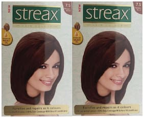 Streax Mahogany Blonde 7.5 Hair Color Pack of 2