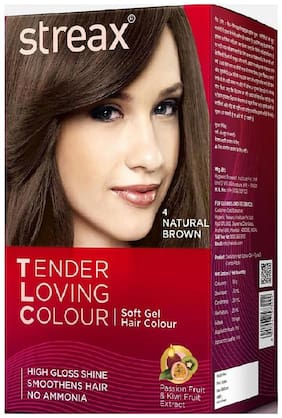 Streax TLC 4 Natural Brown Soft Gel Hair Colour