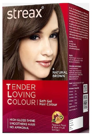 Buy Streax TLC 4 Natural Brown Soft Gel Hair Colour Online at Low ...