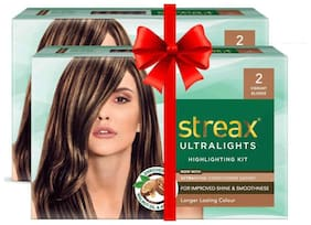 Streax Ultralights Highlighting Kit 2 Vibrant Blonde - 70gm (Pack of 2)