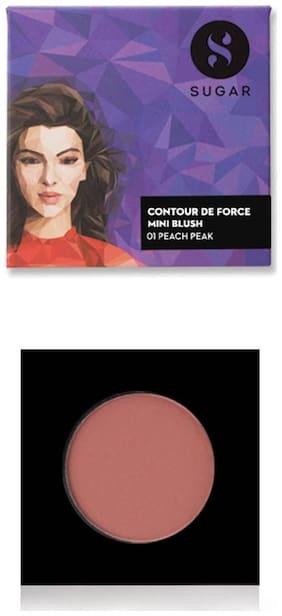 Sugar Cosmetics Contour De Force Mini Blush - 01 Peach Peak (Soft Peach Pink)