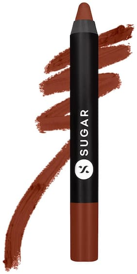 SUGAR Cosmetics Matte As Hell Crayon Lipstick  19 Emma Woodhouse (Earthy Brown) 2.8gm(Brown)