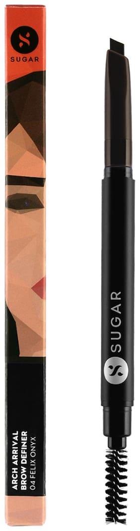 SUGAR Cosmetics Arch Arrival Brow Definer - 04 Felix Onyx (Dark Blackish Brown)